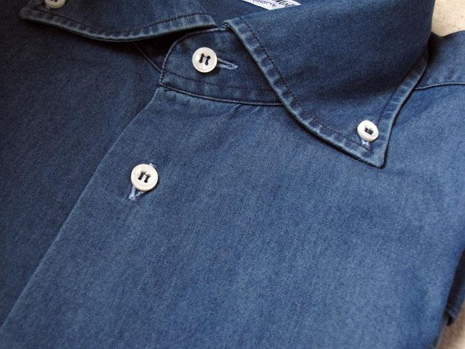 chemise bleue denim
