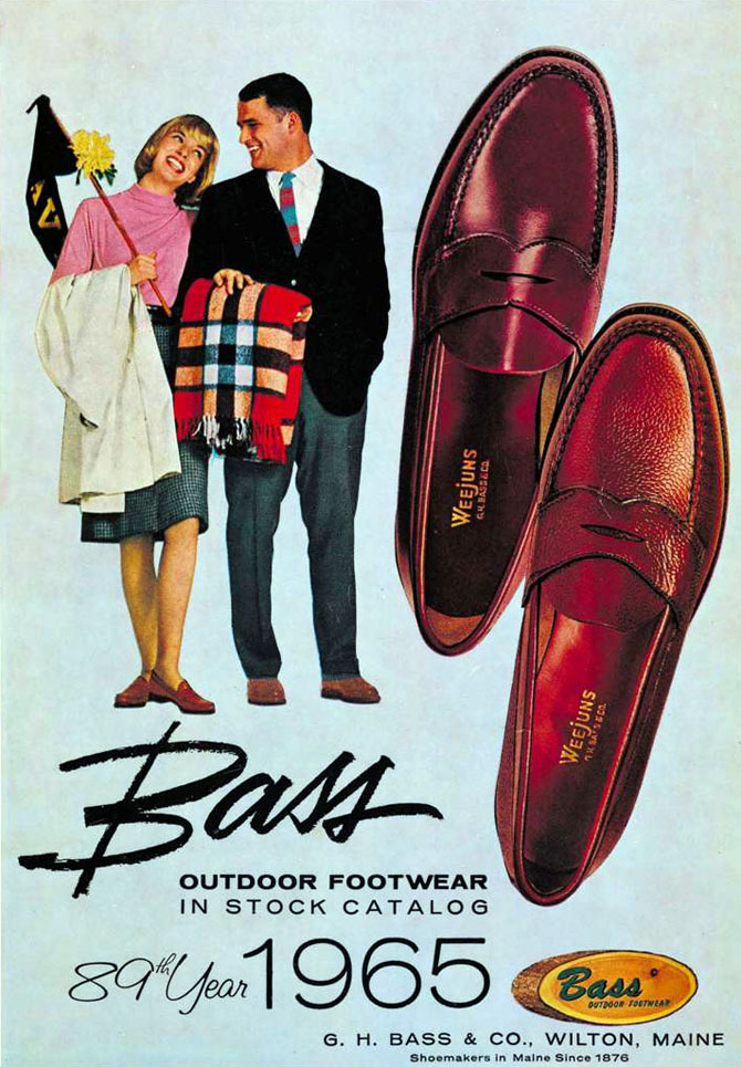 Style Ivy League : penny loafers Bass