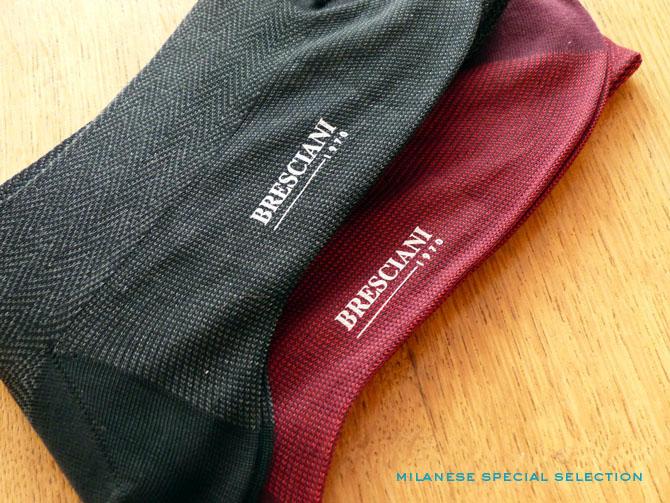 chaussettes Bresciani à motifs
