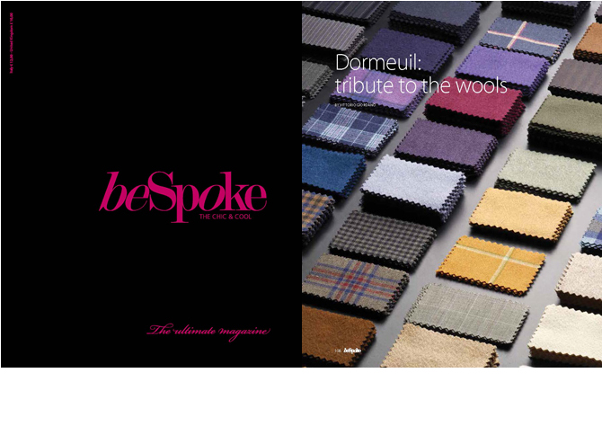 "BeSpoke magazine, n° 15 : ""Dormeuil: tribute to the wools"", by Laurent Le Cam"