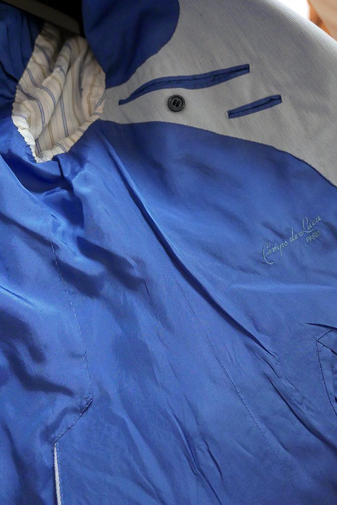 Veste d'été en coton milleraies, Camps de Luca Paris