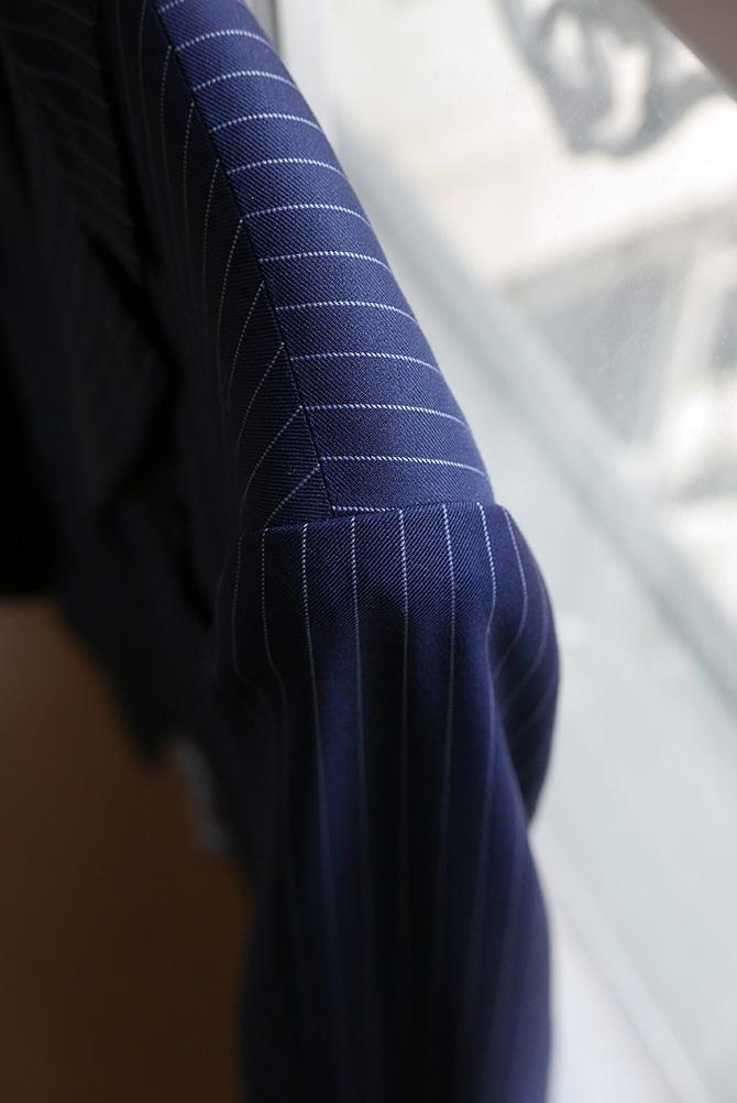 Vide-dressing homme/Dépôt-vente - Costume droit trois boutons Camps de Luca rayures tennis