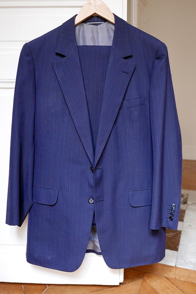 Vide-dressing homme/Dépôt-vente - Costume deux boutons Camps de Luca à rayures tennis