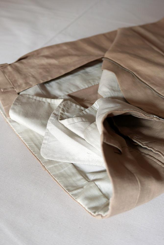 Vide-dressing homme/Dépôt-vente - Costume droit Camps de Luca en lin irlandais