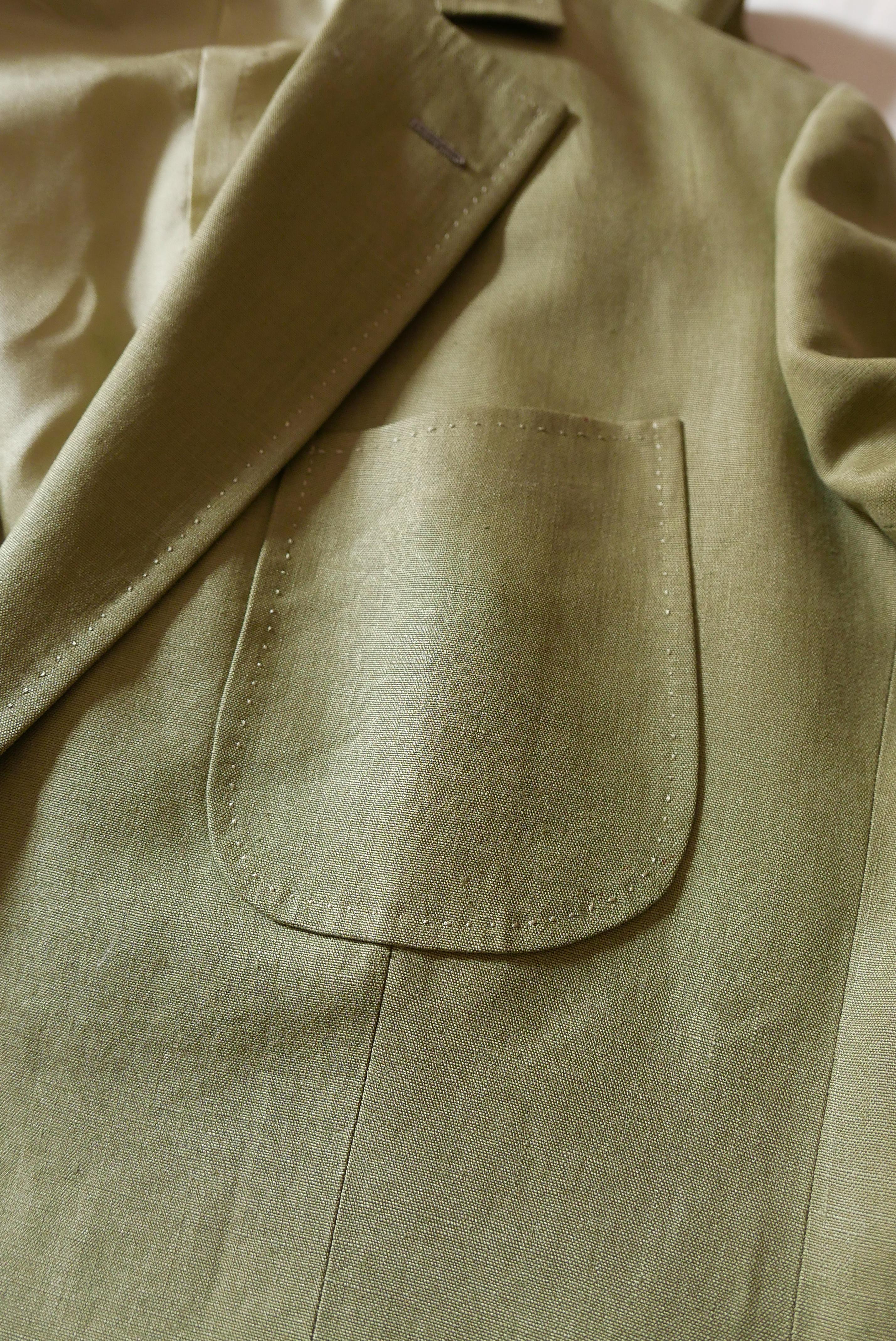 Vide-dressing homme/Dépôt-vente - Veste en lin un bouton Camps de Luca